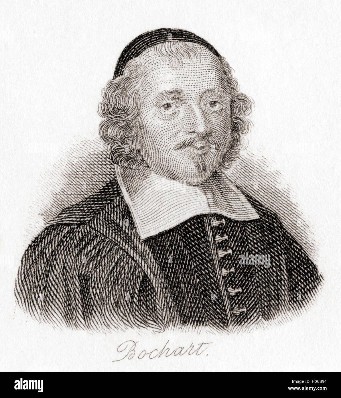 Samuel Bochart, 1599 – 1667.  French Protestant biblical scholar, a student of Thomas Erpenius and the teacher of - Stock Image