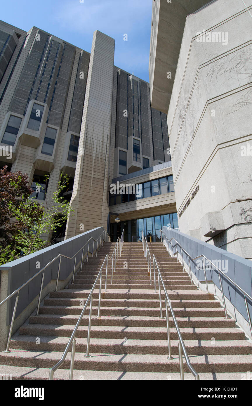 Stairs up to Fisher Rare Book Library University of Toronto - Stock Image
