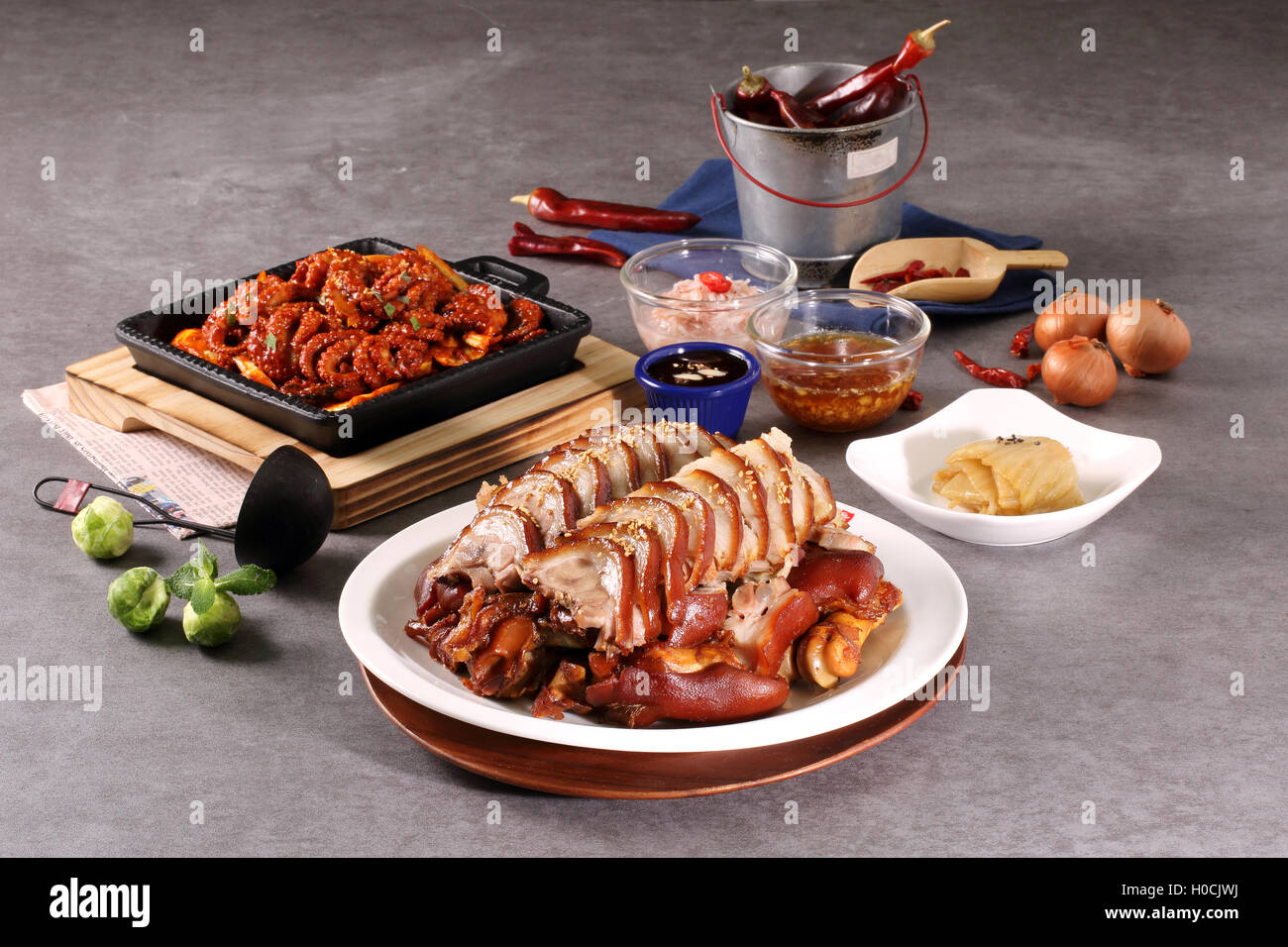 Korean Fried Pork Chops Stock Photos & Korean Fried Pork
