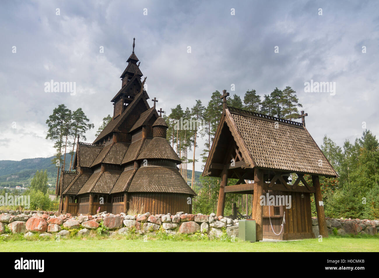 Gol stavkirke, Norway. - Stock Image