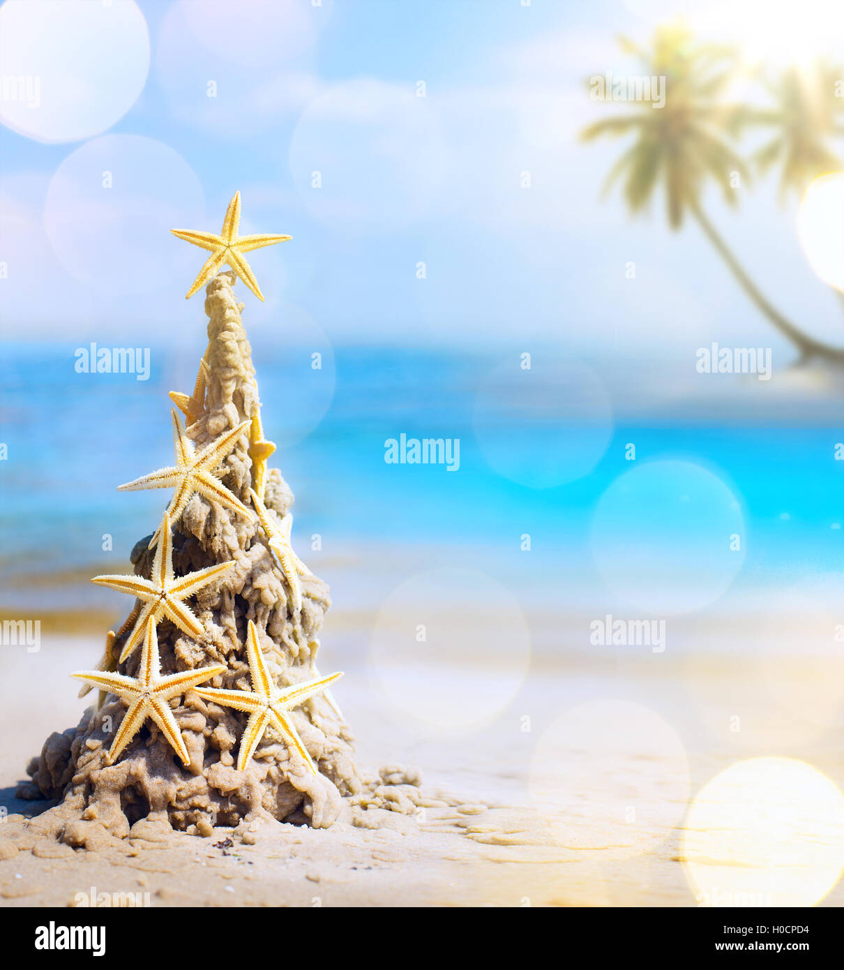 Tropical Christmas.Art Tropical Christmas Holiday Stock Photo 120753616 Alamy
