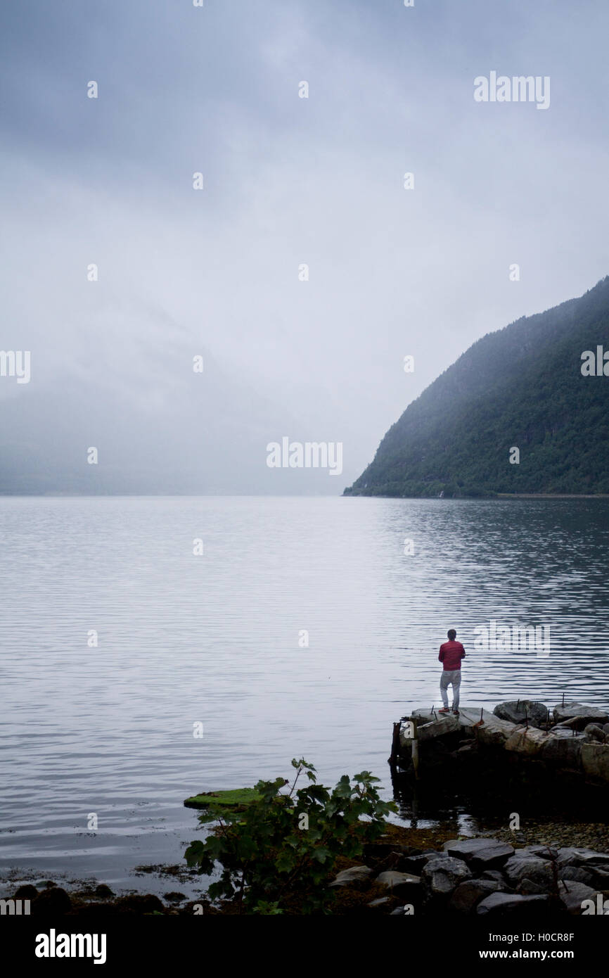 Hardanger fjord, Norway. - Stock Image