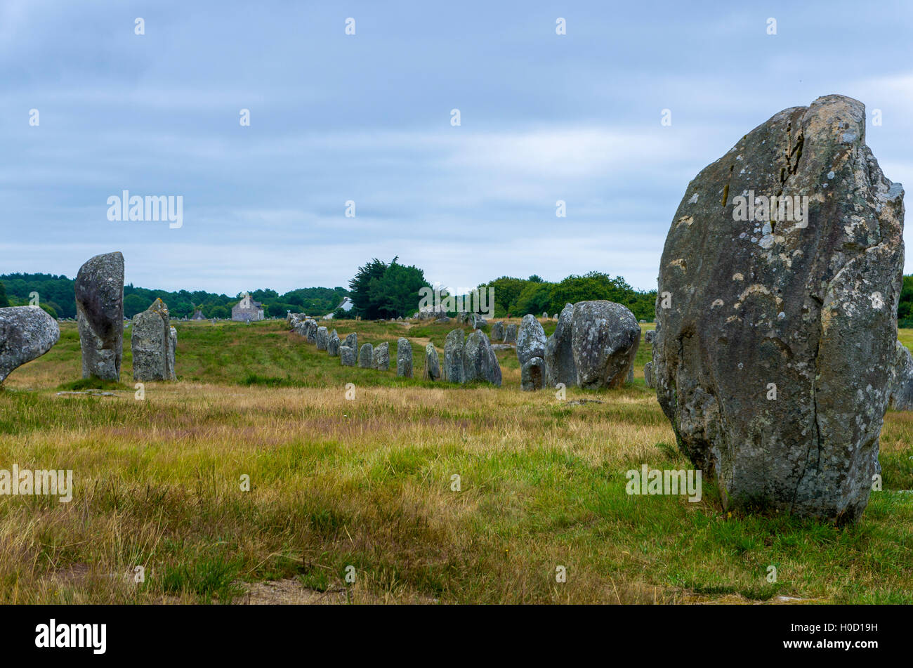 Carnac alignment - Stock Image