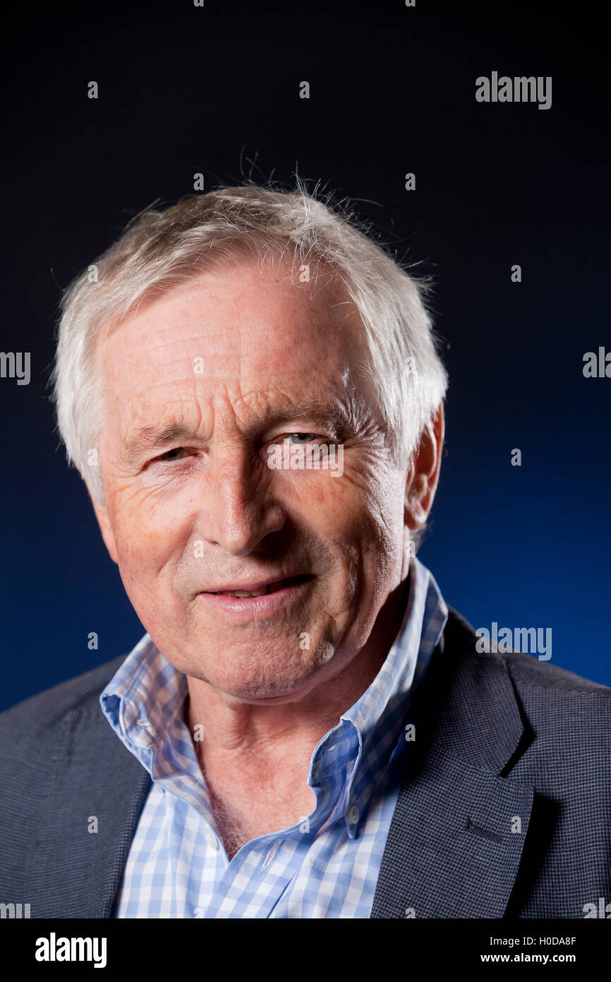 Jonathan Dimbleby, the British writer, broadcaster and political commentator, at the Edinburgh International Book - Stock Image