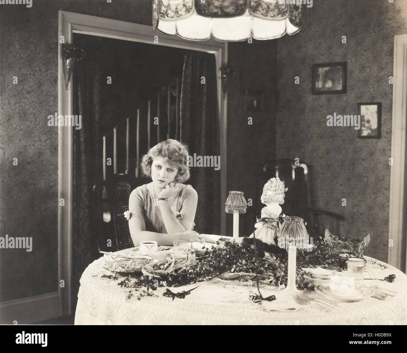 Dining alone - Stock Image