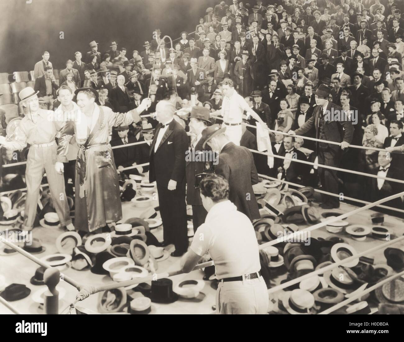Throwing their hats into the ring - Stock Image