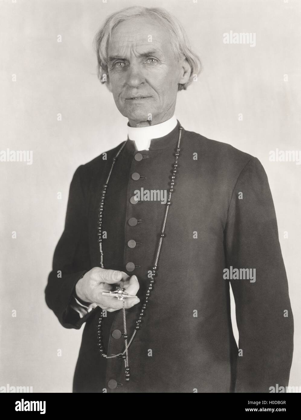 Portrait of a priest - Stock Image