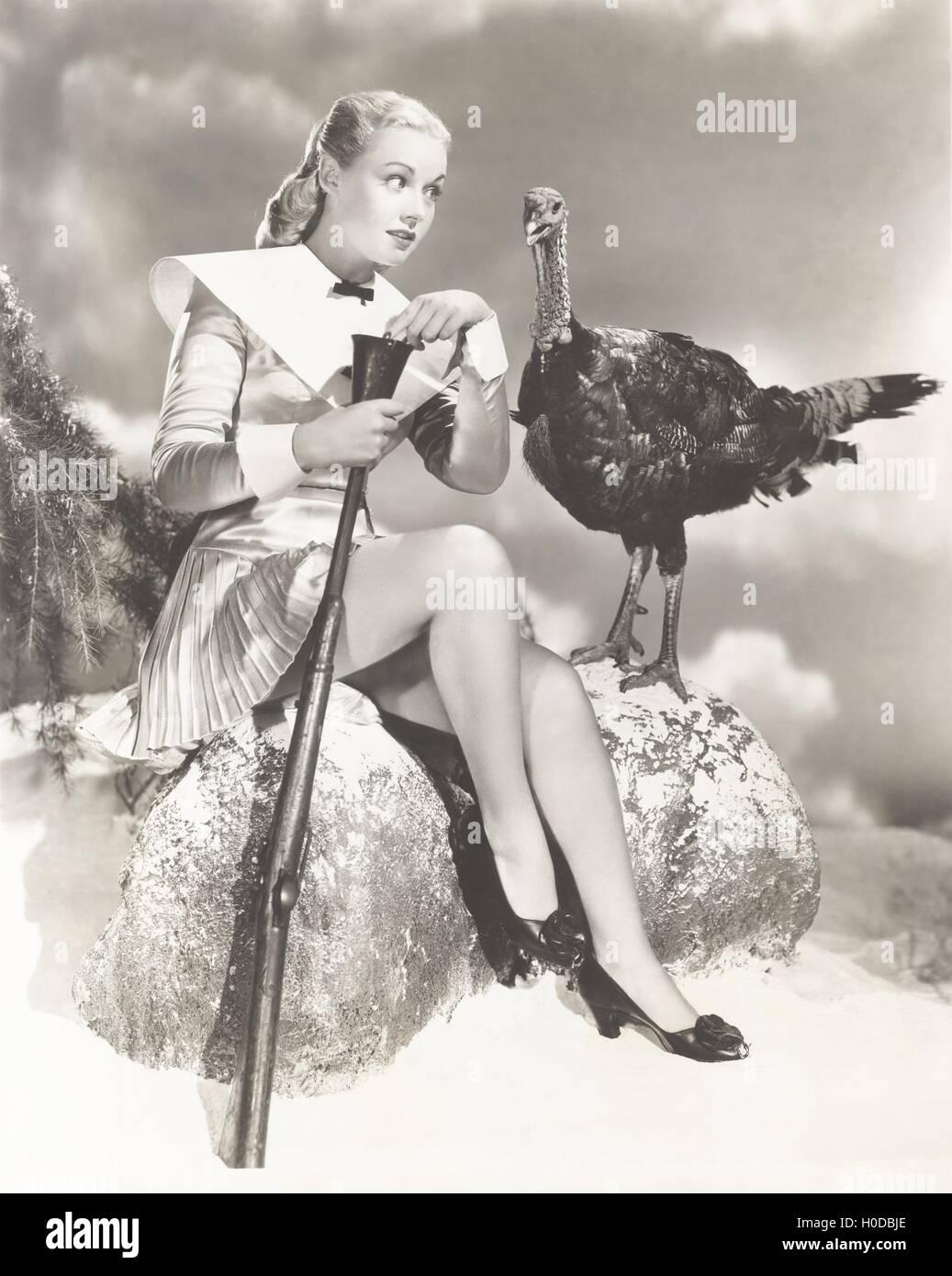Talking turkey - Stock Image