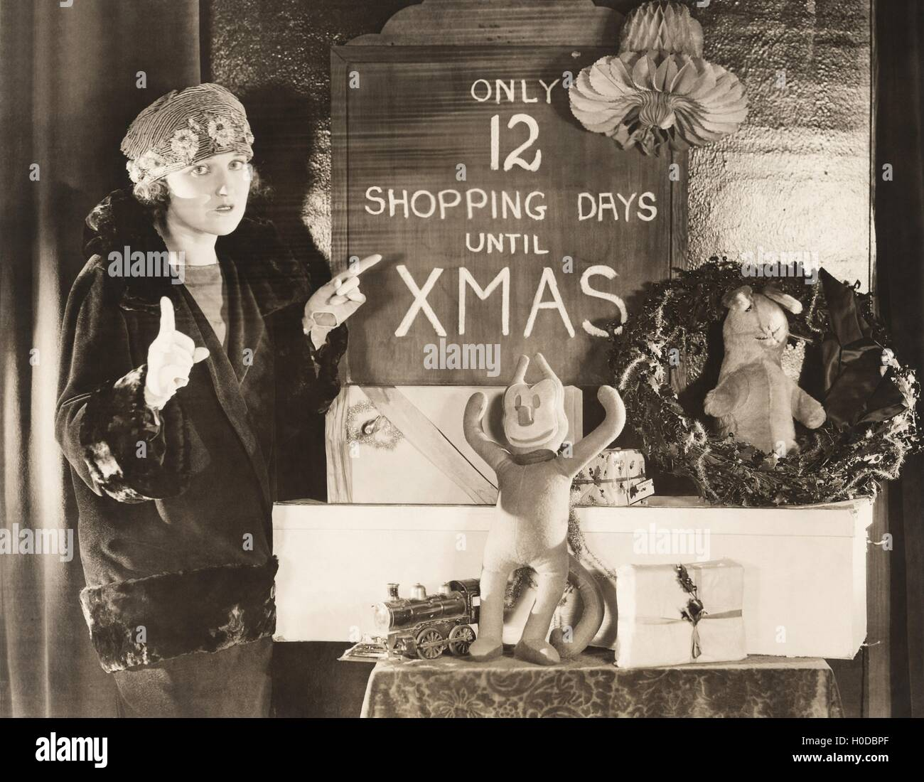 Only 12 shopping days until Xmas Stock Photo