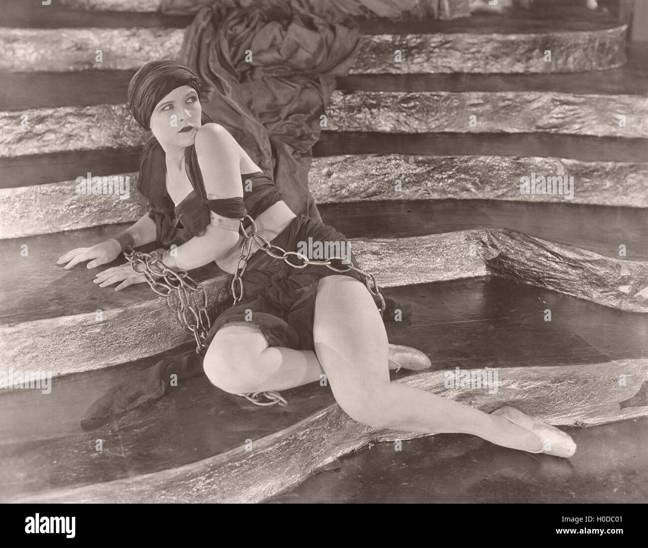 Woman in chains - Stock Image