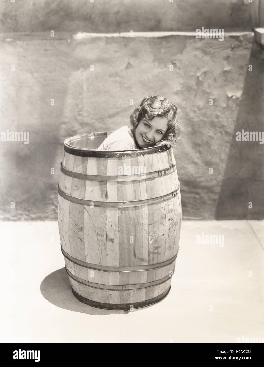 Barrel of fun - Stock Image