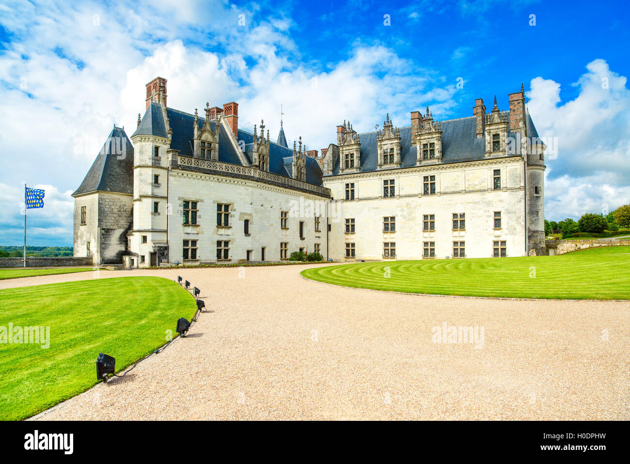 Chateau De Amboise Medieval Castle Leonardo Da Vinci Tomb Loire Stock Photo Alamy