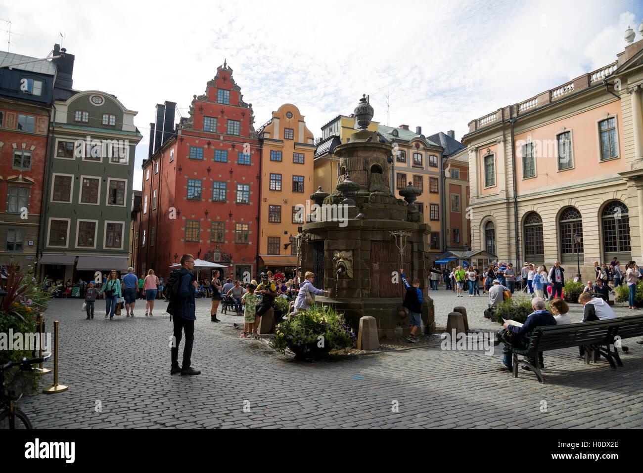 Stortorget, Gamla Stan, Stockholm, Sweden. - Stock Image