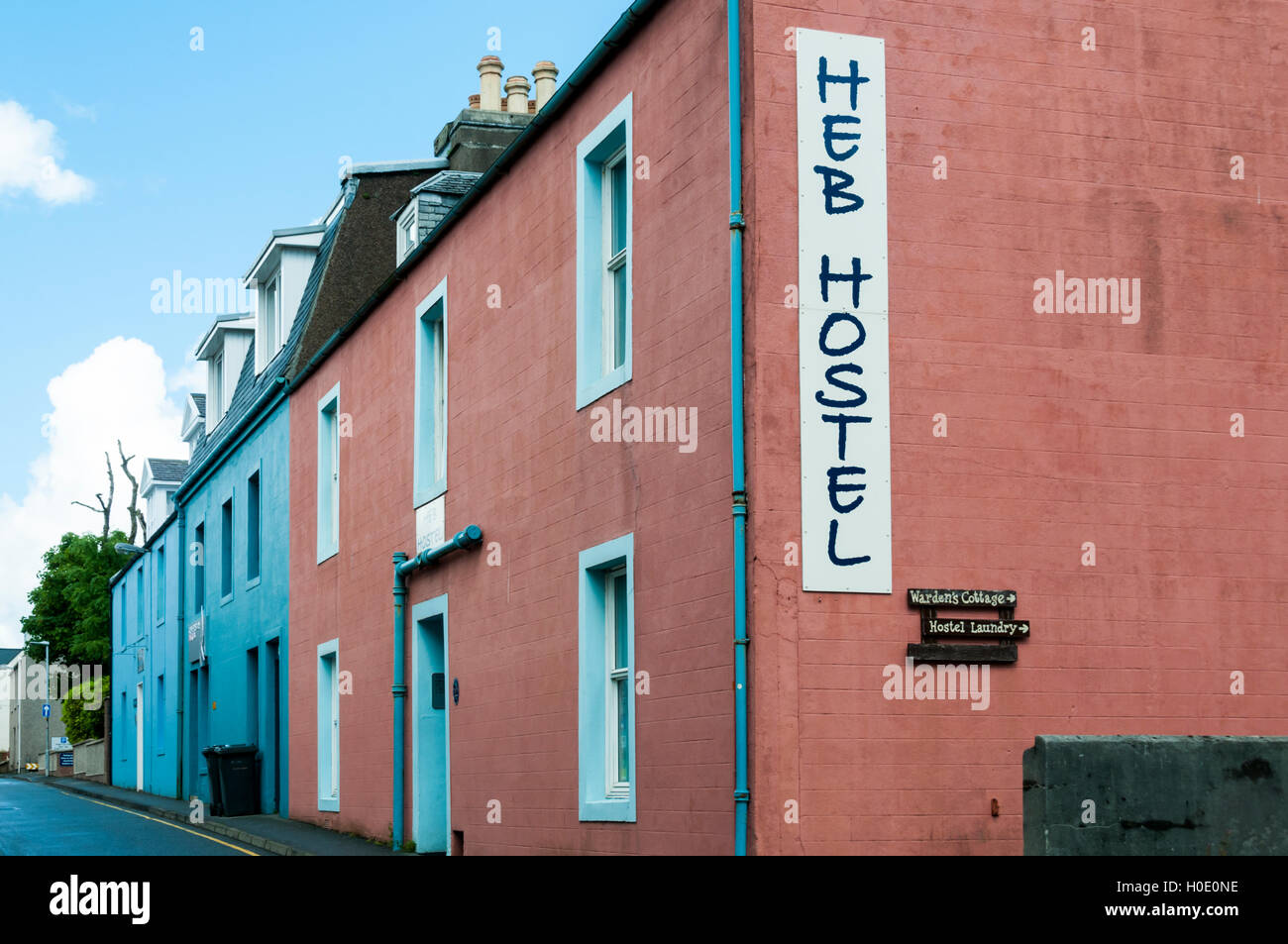 Heb Hostel in Stornoway is an independent backpackers' hostel. - Stock Image