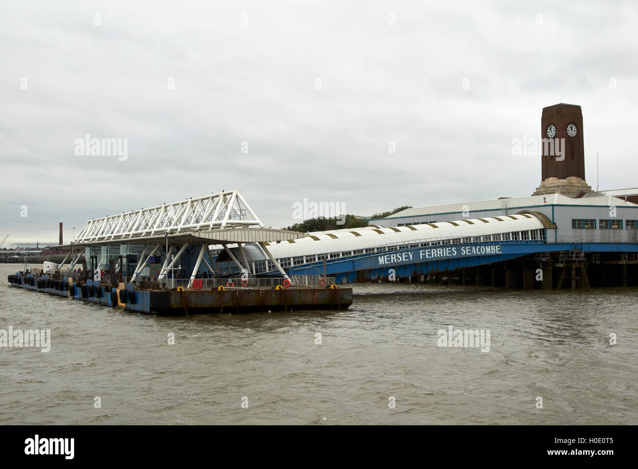 seacombe mersey ferries ferry terminal Liverpool Merseyside UK - Stock Image