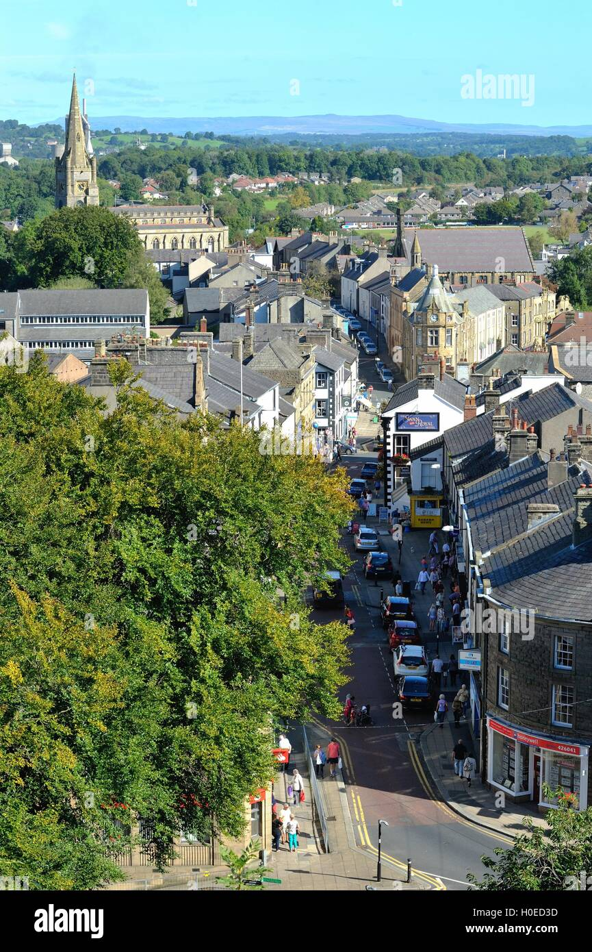 Clitheroe town centre - Stock Image
