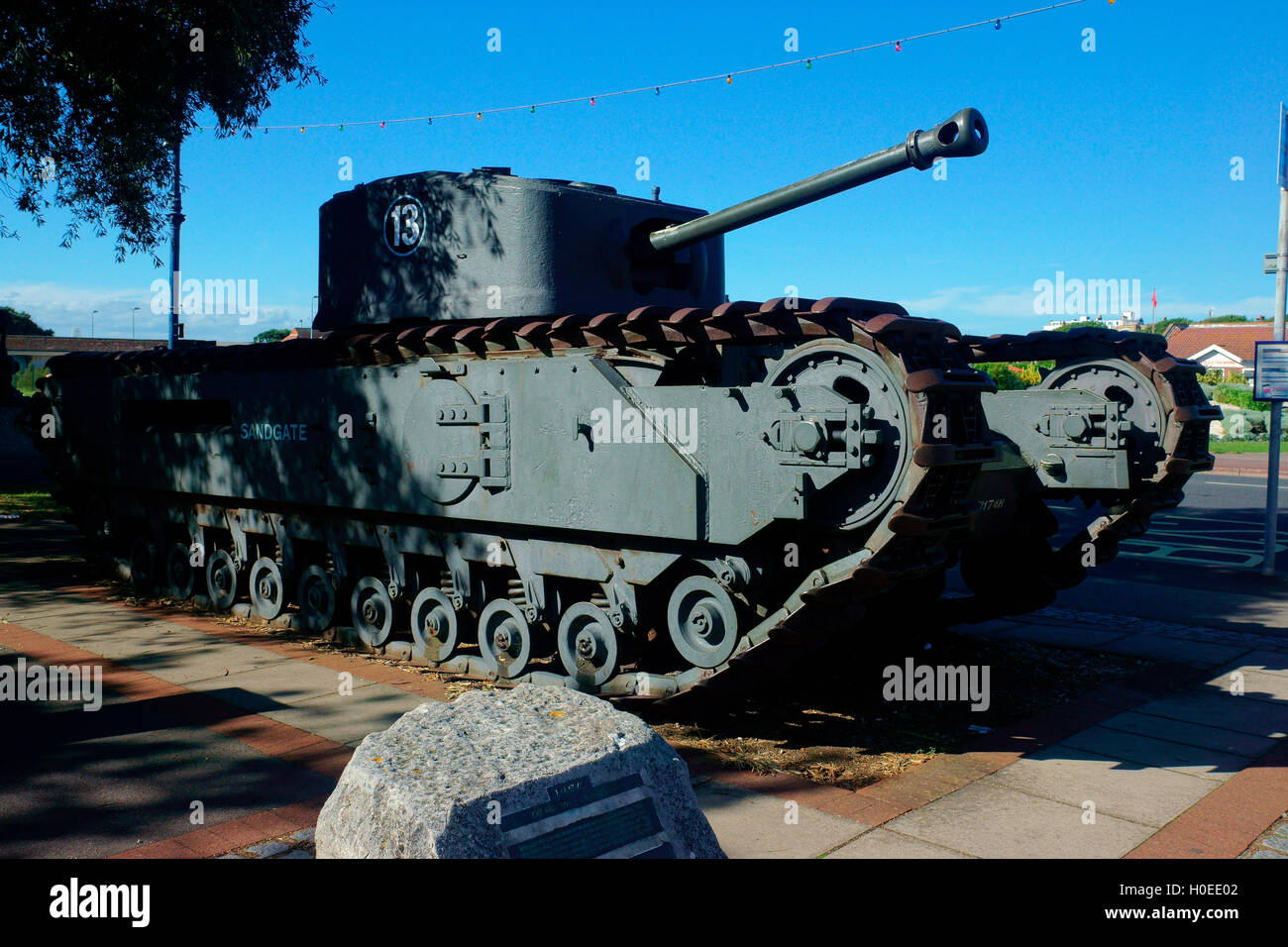 CHURCHILL MK VII CROCODILE FLAME THROWER TANK Stock Photo