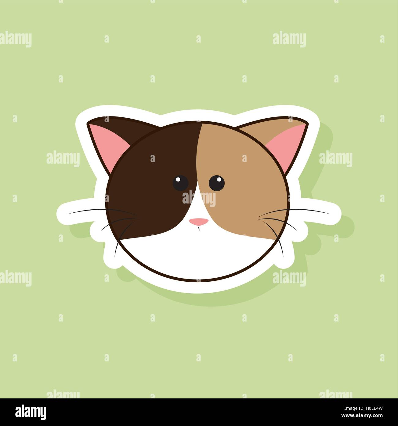 cute cat face stock vector art illustration vector image