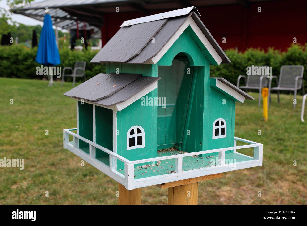 Schmalkalden horticultural show bird house - Stock Image