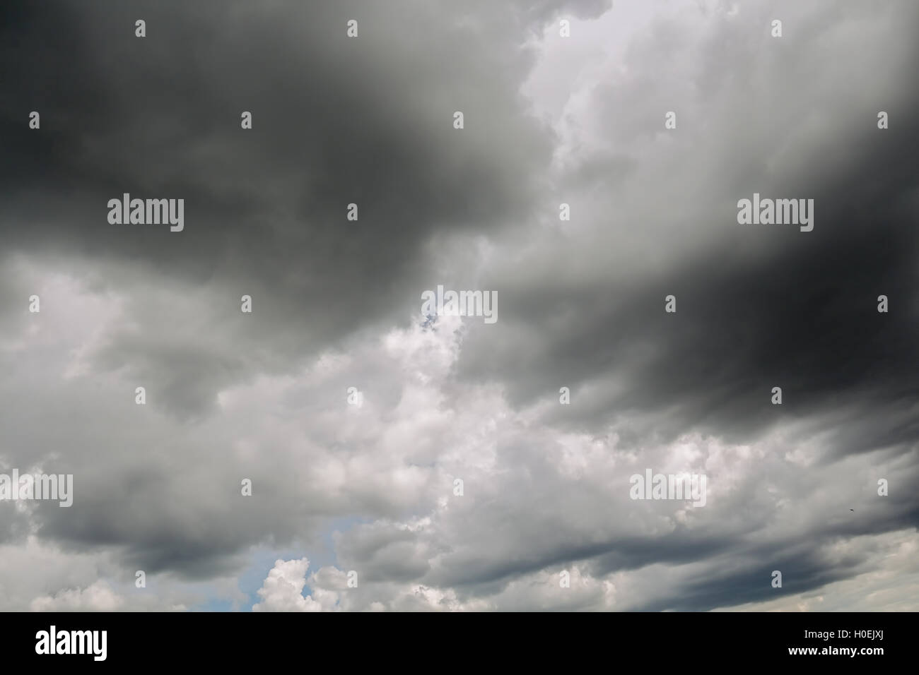 Storm clouds cloudy sky background with the adverse weather. - Stock Image