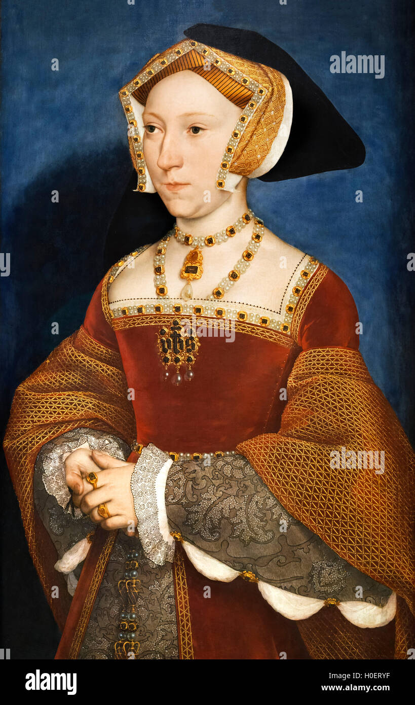 Jane Seymour (1508-1537), third wife of King Henry VIII of England, by Hans Holbein the Younger, c.1536-1537 - Stock Image
