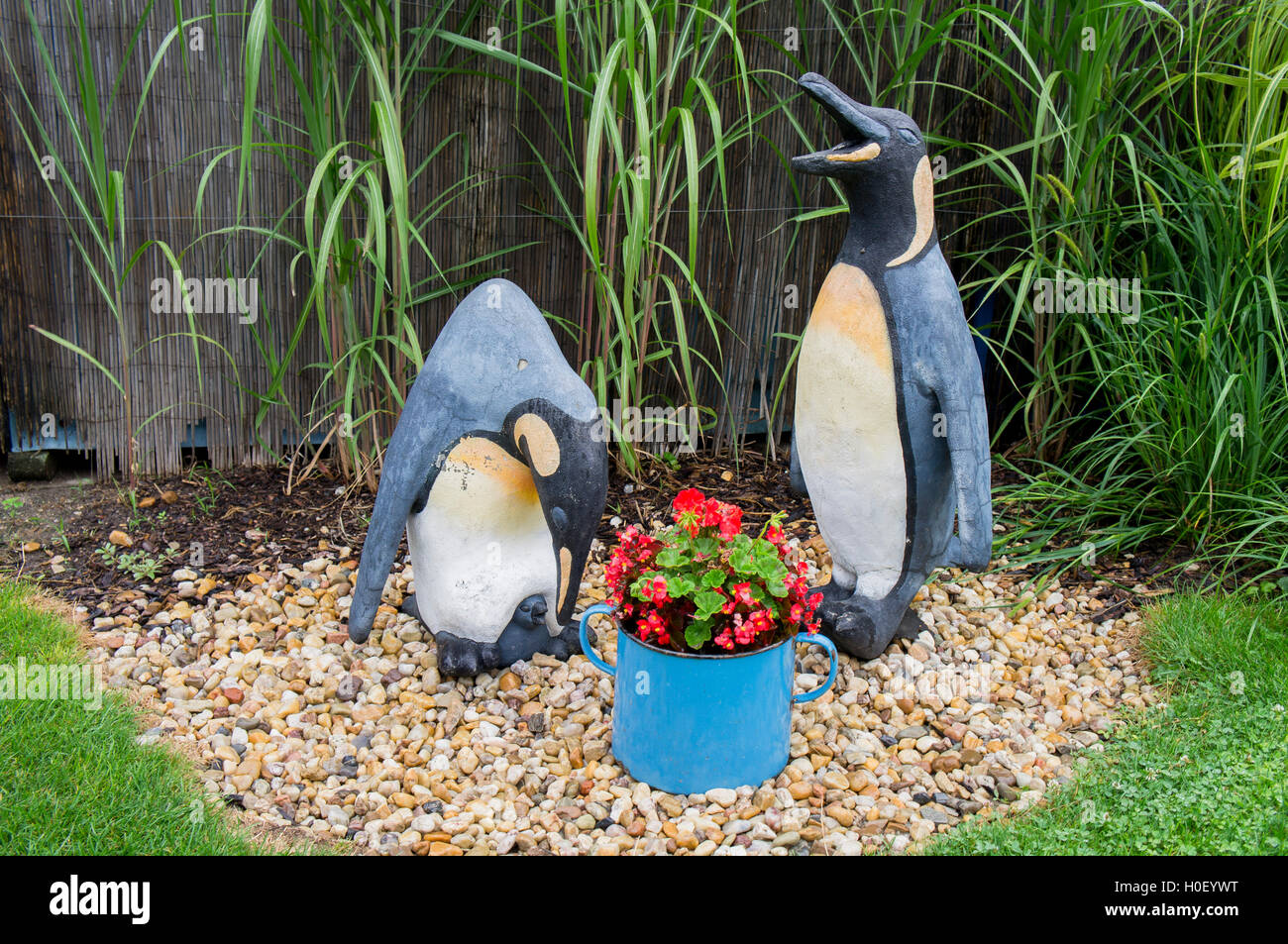 sculpture King penguin, Aptenodytes patagonicus - Stock Image