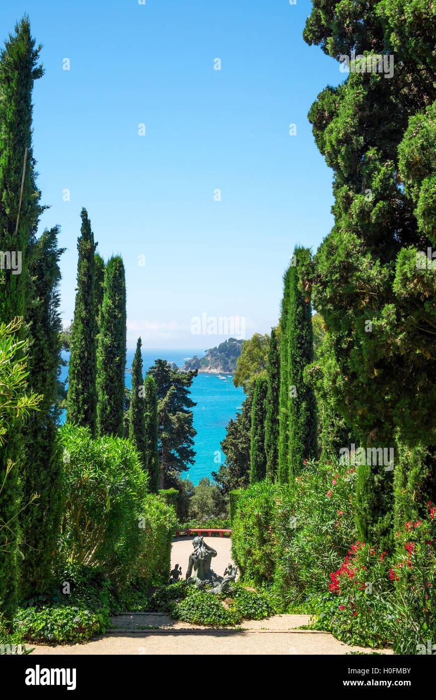 Santa Clotilde gardens at Llorete de mar, Spain - Stock Image