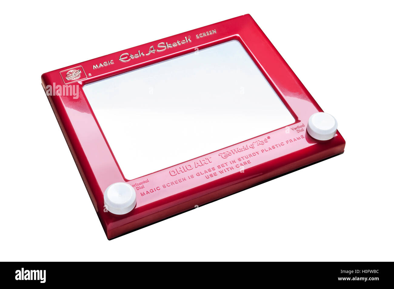 Vintage retro Etch a Sketch drawing toy - Stock Image
