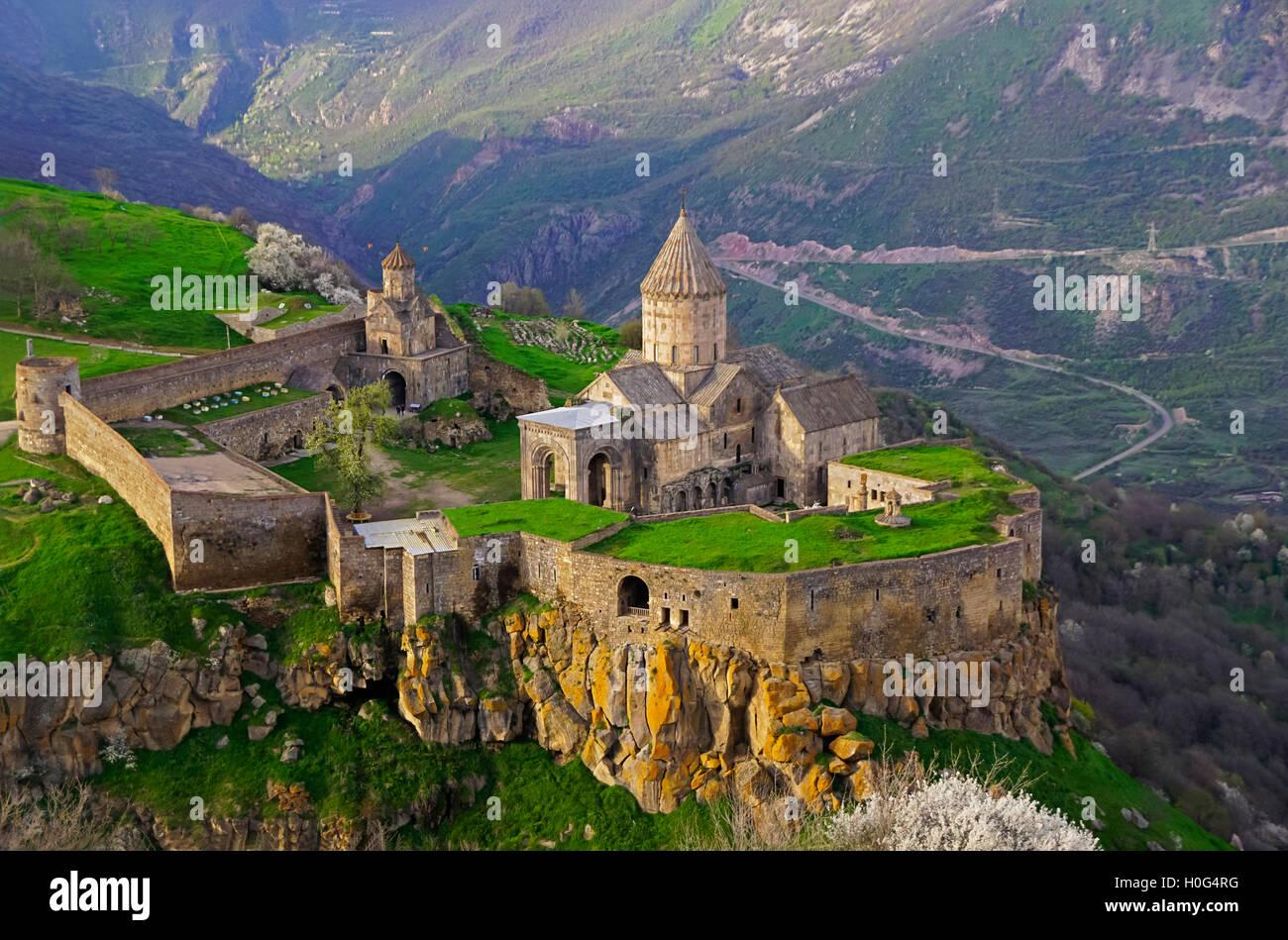9th-century Tatev Monastery in Syunik Province, southeastern Armenia. - Stock Image