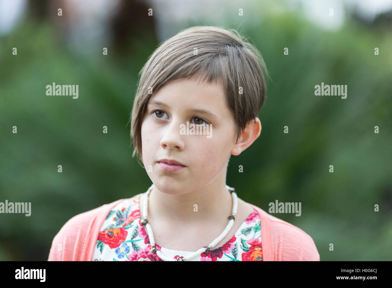 Ruby Barnhill ,English actress, played the lead role of Sophie in Steven Spielberg's 2016 film The BFG. Pictured - Stock Image