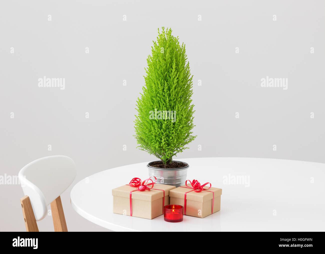 Tree Table Christmas Indoor Nobody Stock Photos & Tree Table ...