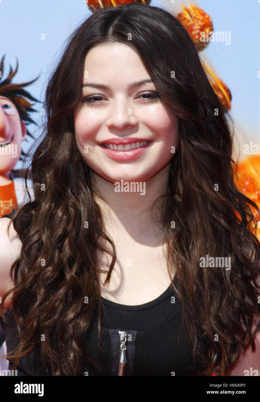 WESTWOOD, CALIFORNIA - Saturday September 12, 2009. Miranda Cosgrove at the Los Angeles premiere of 'Cloudy - Stock Image