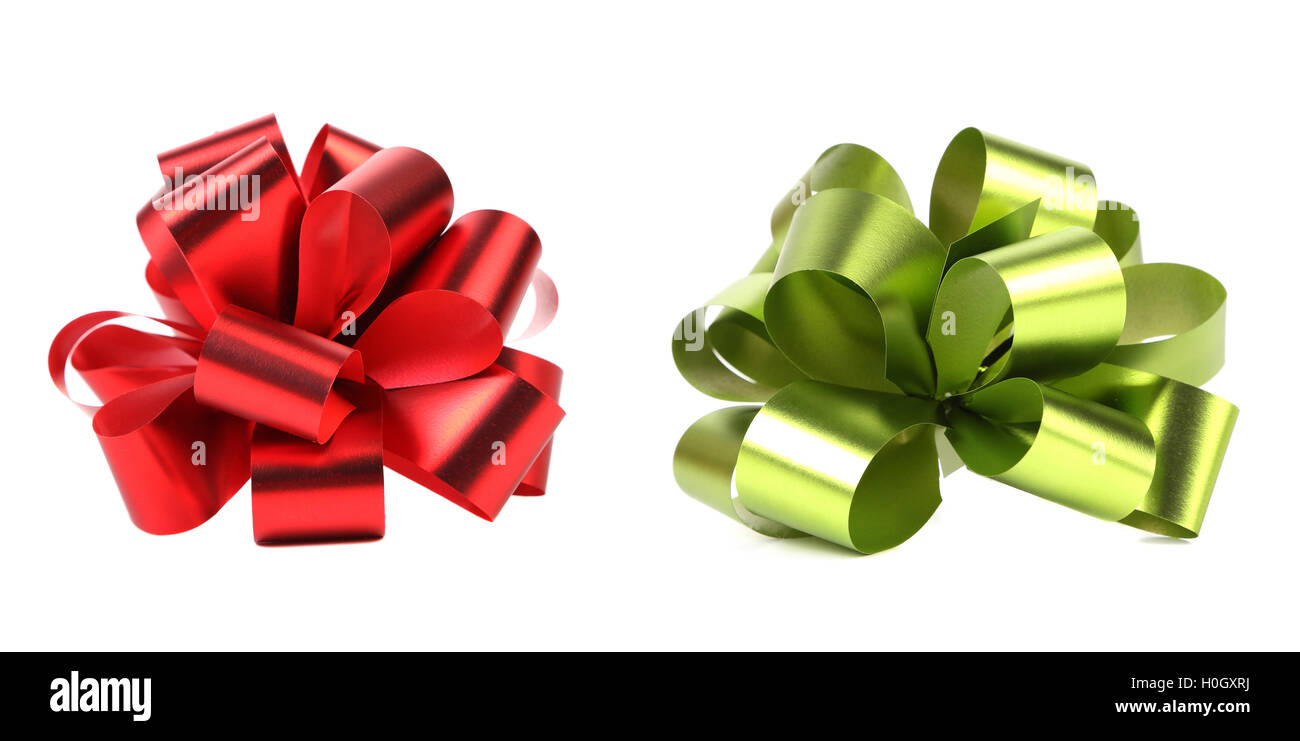 Green and red packaging band. - Stock Image