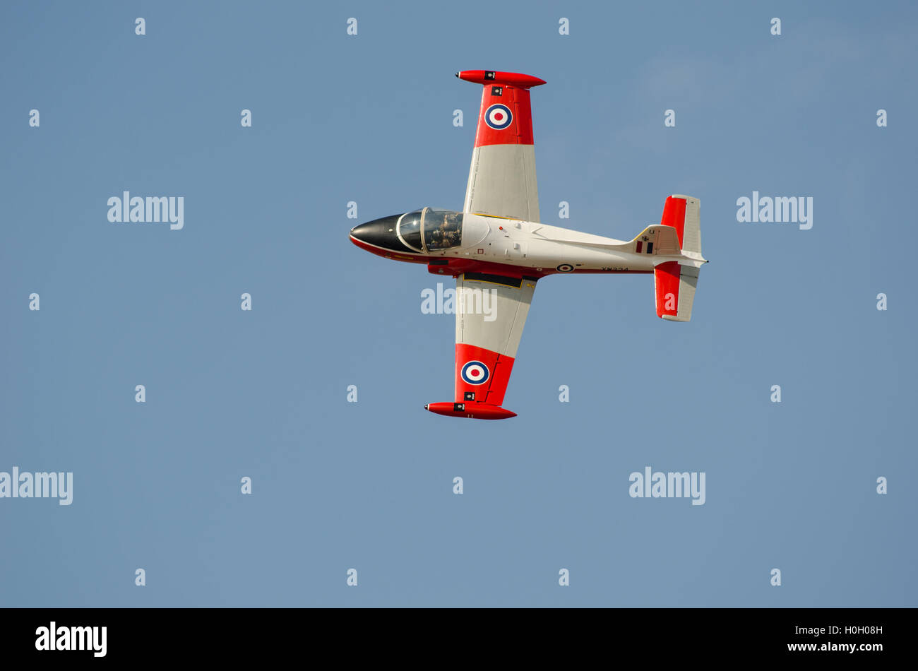 BAC Jet Provost T5 performing aerobatics at Southport Airshow 2014 Stock Photo