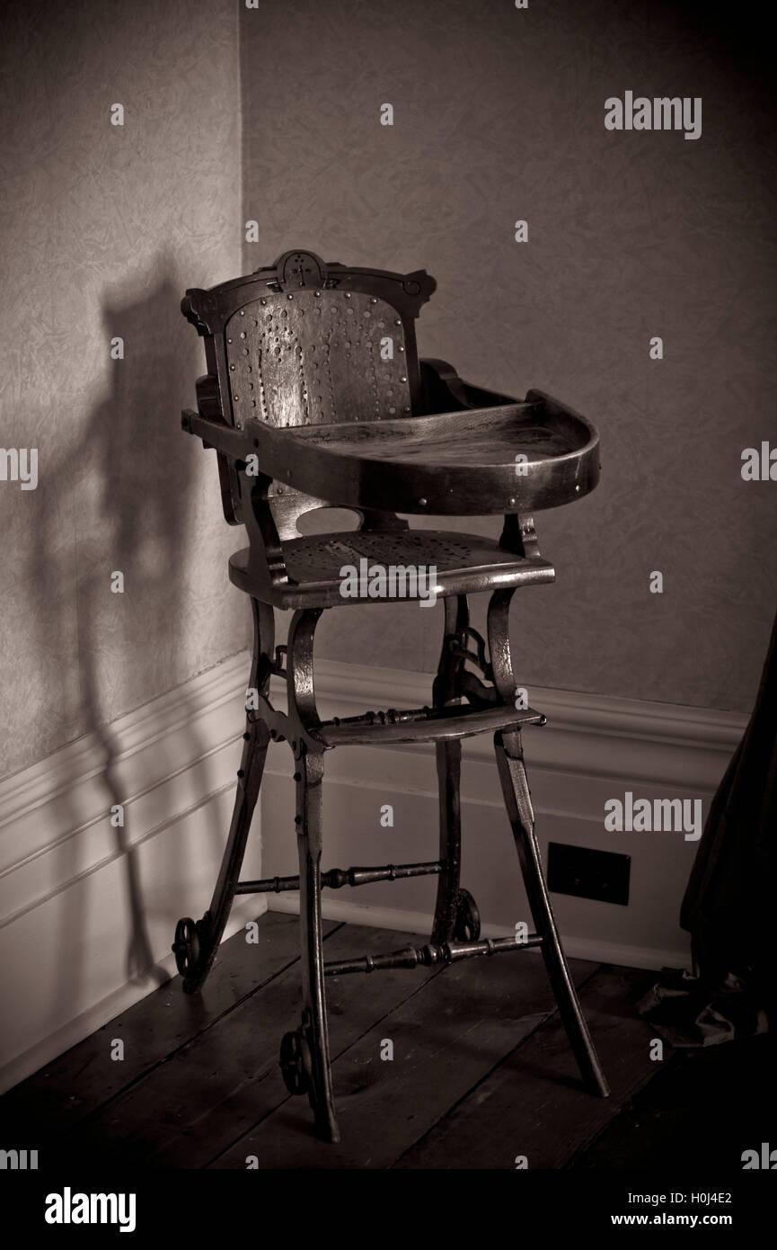 Edwardian period antique child chair - Edwardian Period Antique Child Chair Stock Photo: 120871242 - Alamy