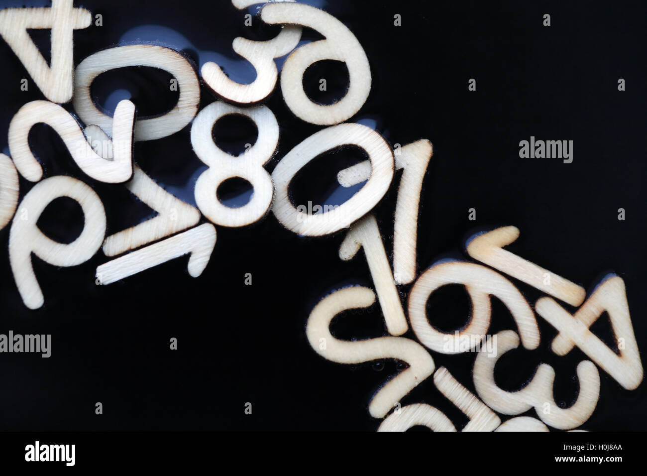 Numbers In Water - Stock Image