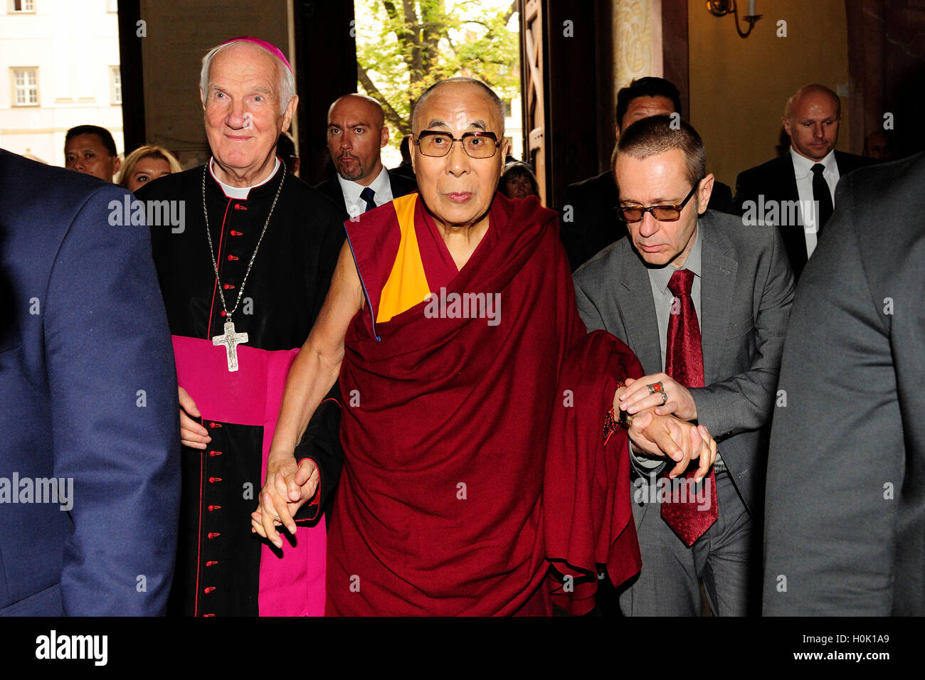 Swidnica, Poland  21st Sep, 2016  The Dalai Lama, visiting