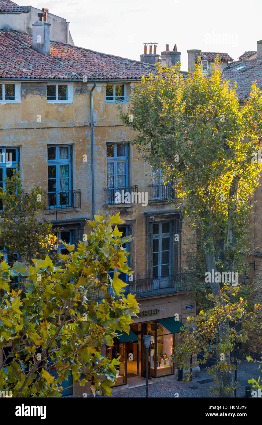 Cours Mirabeau, Aix-en-Provence, France - Stock Image