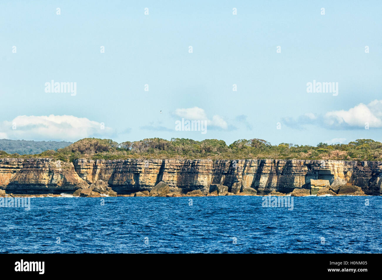 Scenic view of cliffs at Jervis Bay, New South Wales, NSW, Australia - Stock Image