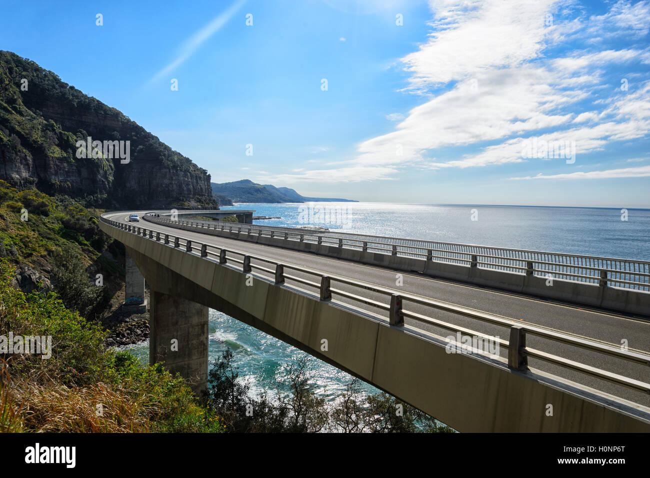 Sea Cliff Bridge, Grand Pacific Drive, Coalcliff, Illawarra Region, New South Wales, NSW, Australia - Stock Image
