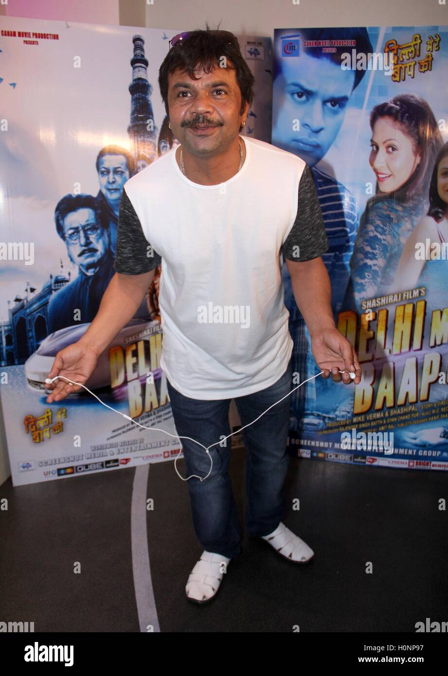 Bollywood actor Rajpal Yadav during the music launch of film