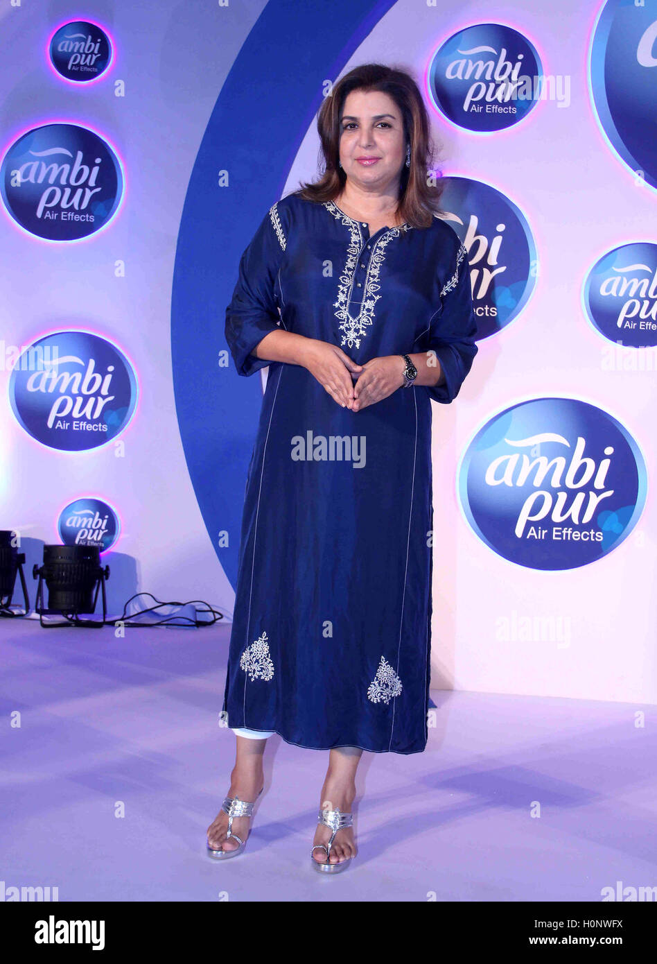 Bollywood filmmaker Farah Khan during a promotional event by Ambi Pur, in Mumbai, India on September 13, 2016. - Stock Image