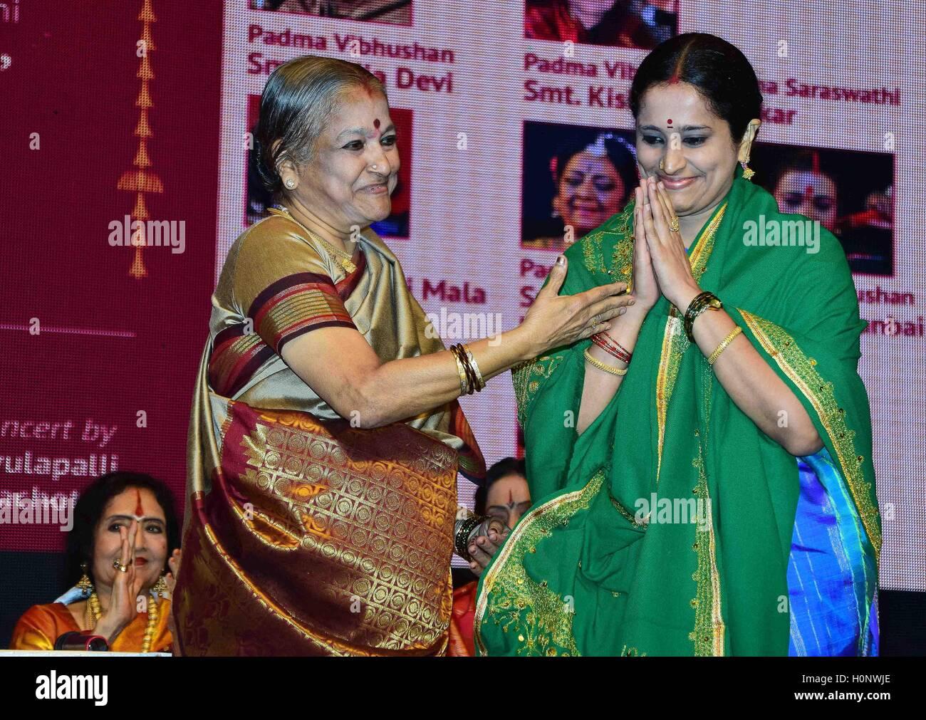 Indian Carnatic singer Vishaka Hari receives M S Subbulakshmi Stock
