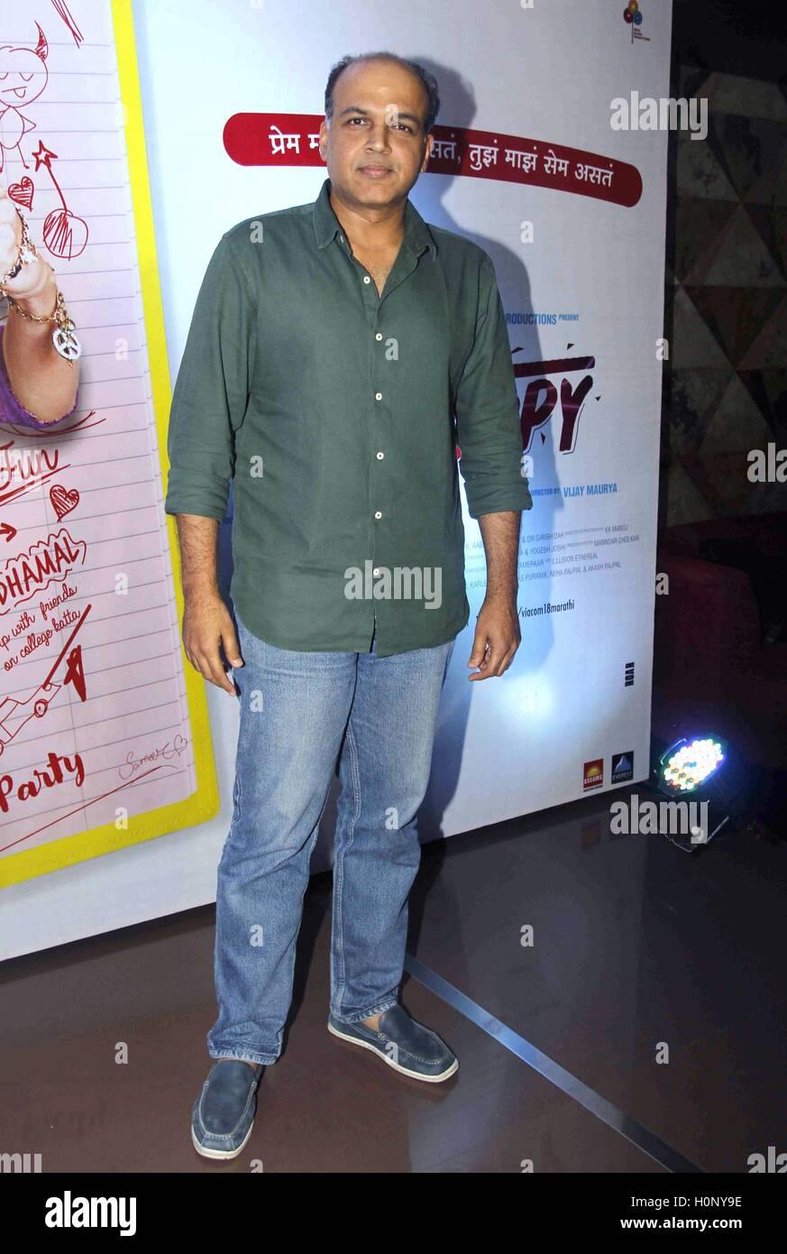 Bollywood filmmaker Ashutosh Gowariker during the screening of Marathi film Photocopy in Mumbai, India on September - Stock Image