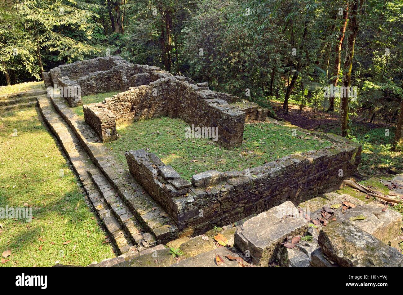 Banjo de la Reina, Bath of the Queen, Mayan ruins of Palenque, Chiapas, Mexico - Stock Image