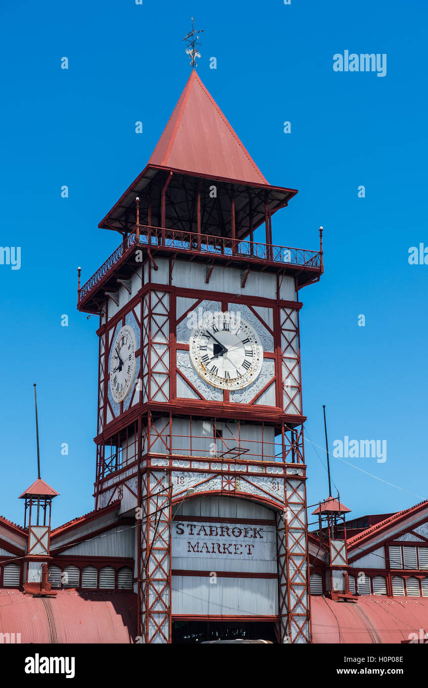 Entrance, Stabroek market, Georgetown, Guyana - Stock Image