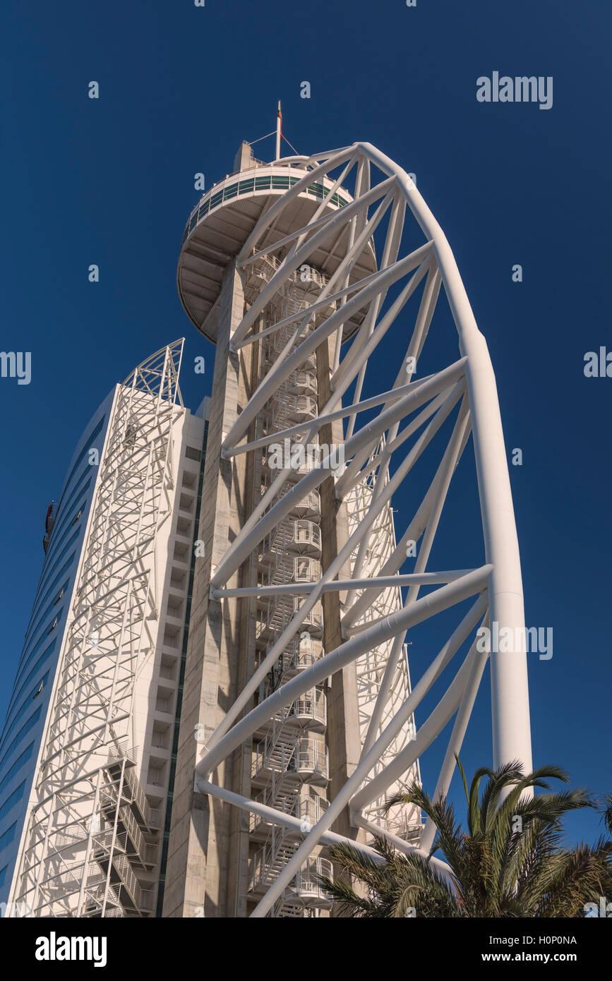 Vasco da Gama Tower Parque das Nações Lisbon Portugal - Stock Image