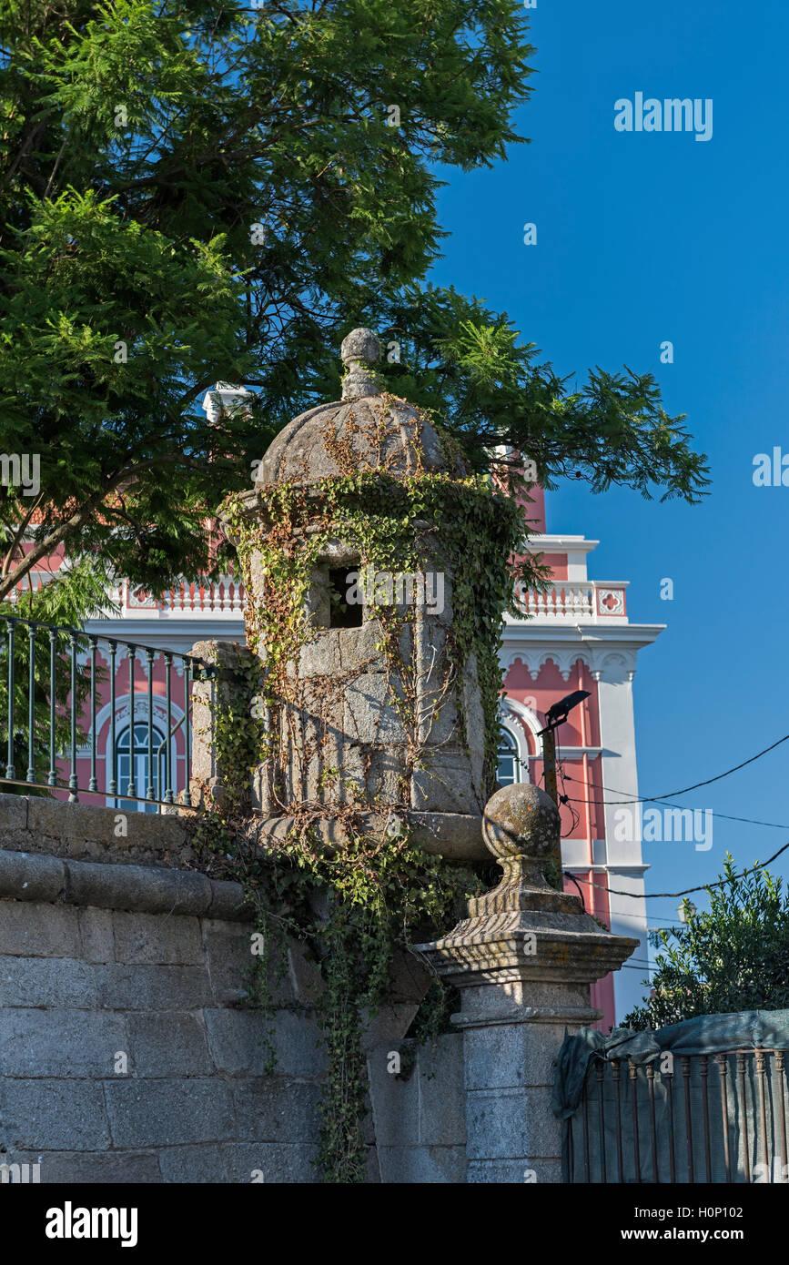City wall watch tower Evora Alentejo Portugal Stock Photo