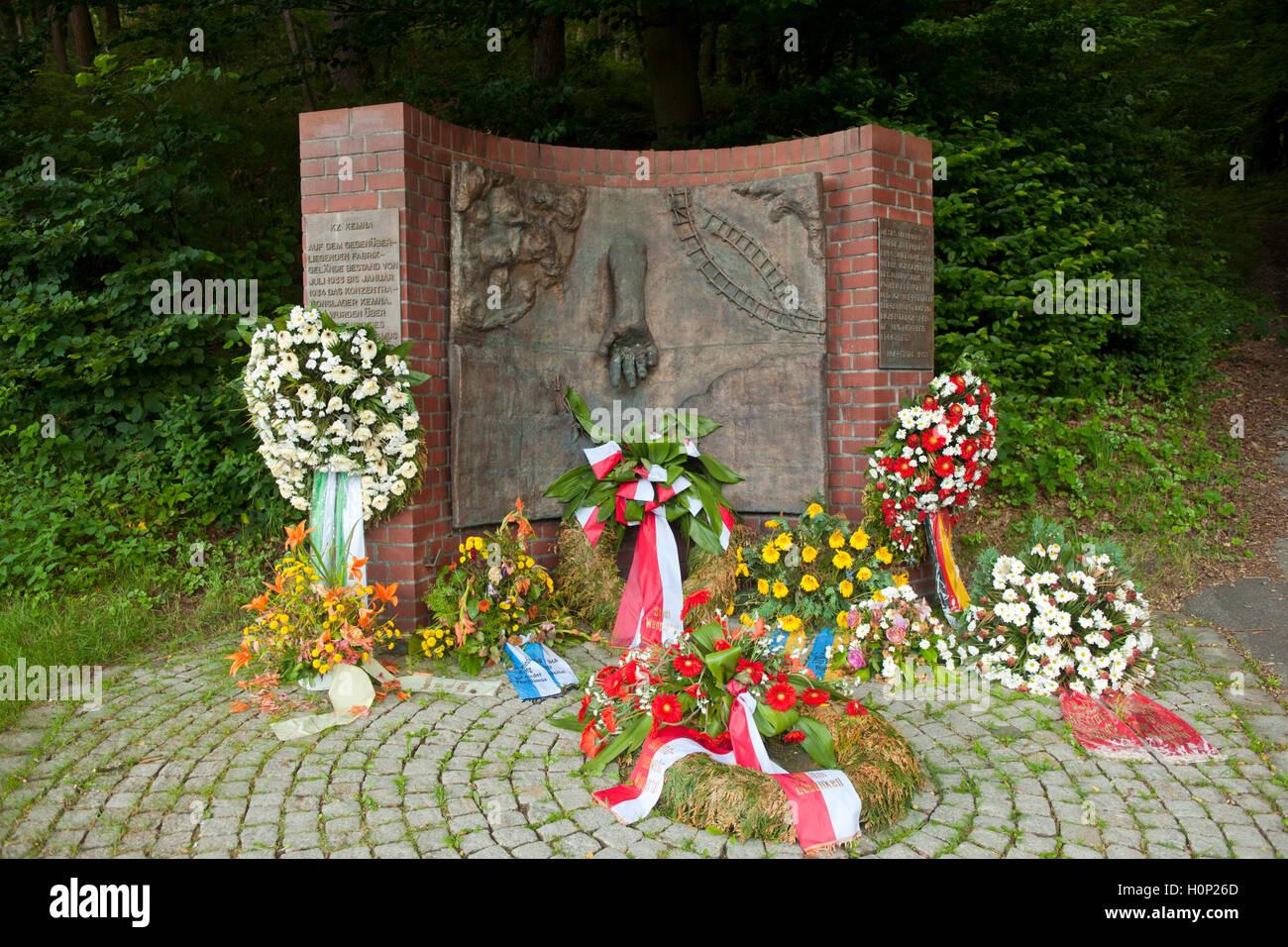 Deutschland, Nordrhein-Westfalen, Wuppertal-Kemna, Mahnmal für das Konzentrationslager Kemna Stock Photo