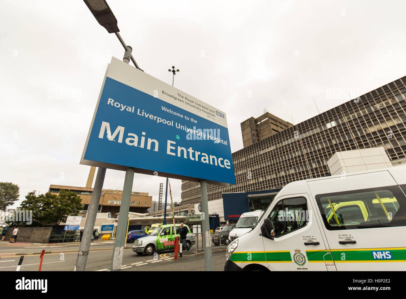 Royal Liverpool University Hospital , England - Stock Image